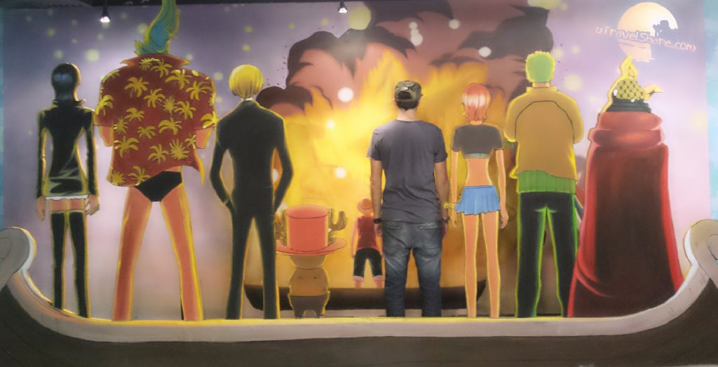 One piece 3d exhibition in 3d Museum Hong Kong, going merry funeral