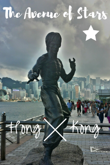 PIN IT on PINTEREST - The Avenue of Stars, Bruce lee Statue at Victoria Bay Harbour, Hong Kong